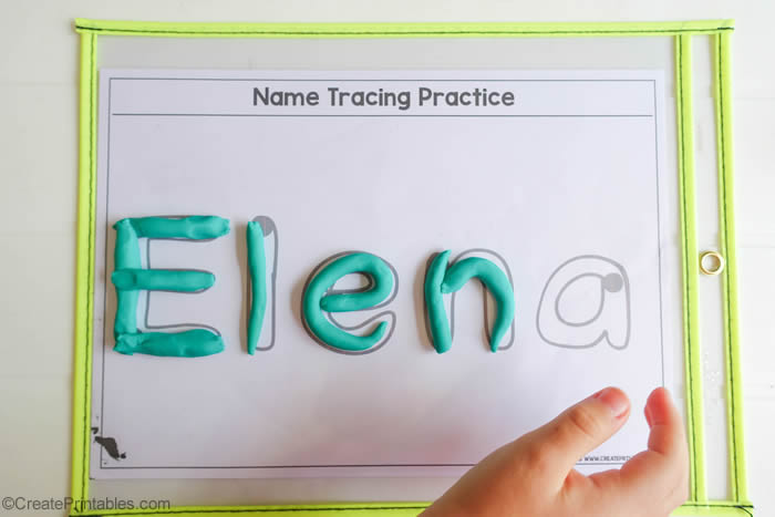 editable name playdough mat