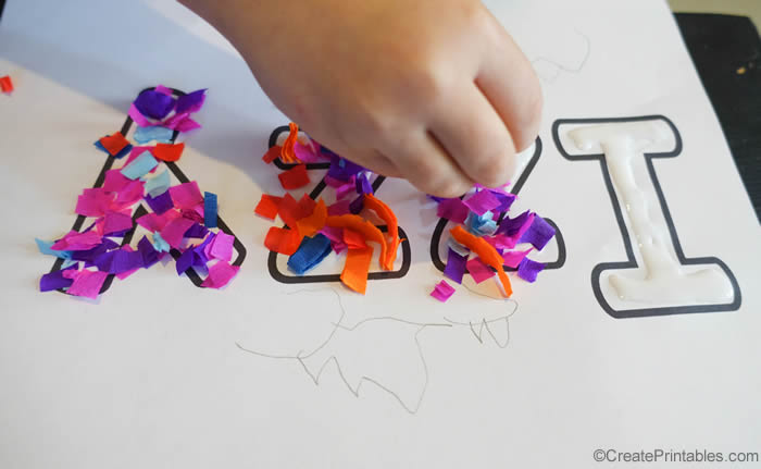 fine motor activity with custom name worksheet