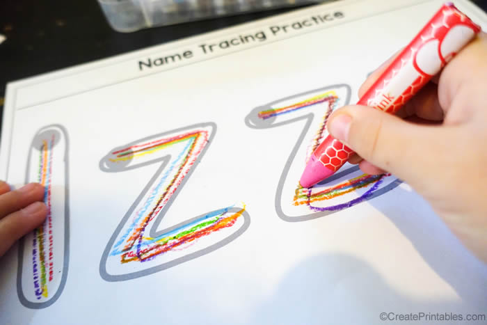 rainbow writing practice
