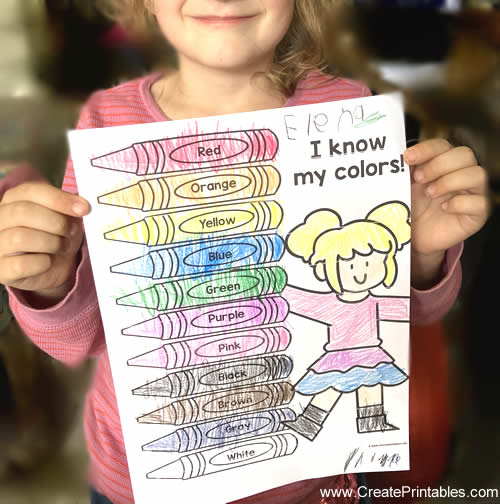 Coloring Page for color crayons